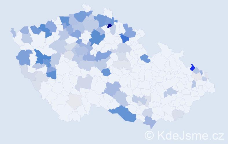 Příjmení: 'Jäger', počet výskytů 307 v celé ČR