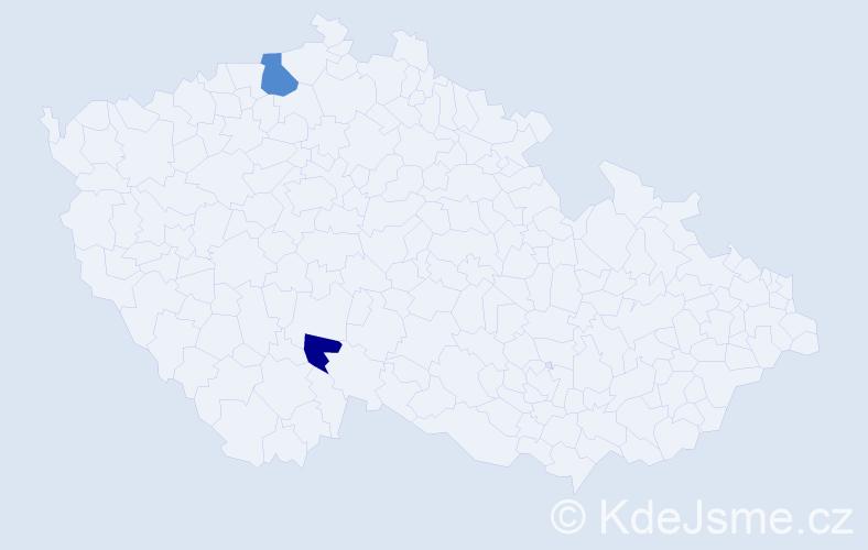 Příjmení: 'Bilyjová', počet výskytů 3 v celé ČR