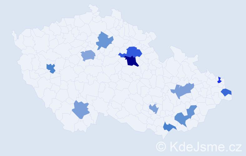 Příjmení: 'Esposito', počet výskytů 22 v celé ČR