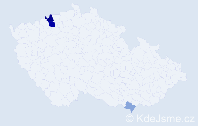 Příjmení: 'Fajták', počet výskytů 9 v celé ČR