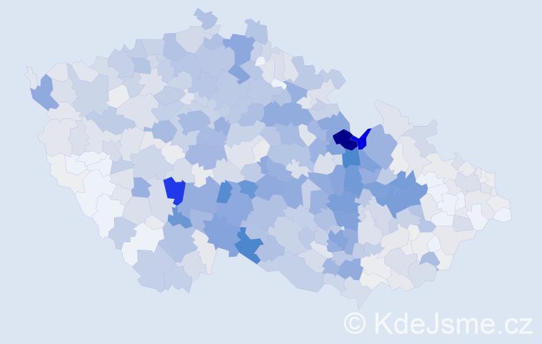 Příjmení: 'Stejskal', počet výskytů 4628 v celé ČR