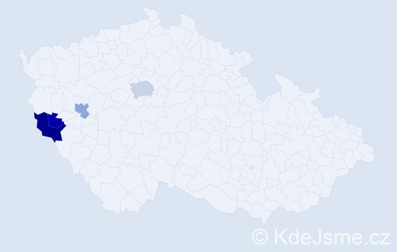 Příjmení: 'Fay', počet výskytů 10 v celé ČR