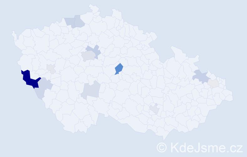 Příjmení: 'Faulová', počet výskytů 36 v celé ČR