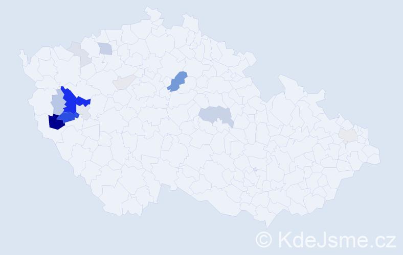 Příjmení: 'Dandáš', počet výskytů 51 v celé ČR
