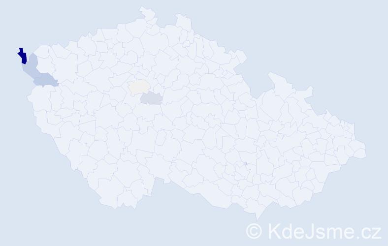 Příjmení: 'Elizeusová', počet výskytů 12 v celé ČR