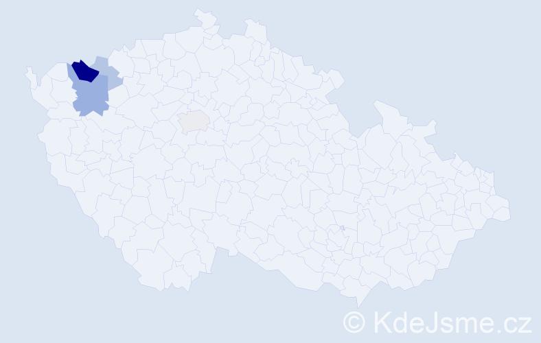Příjmení: 'Kolitsch', počet výskytů 21 v celé ČR