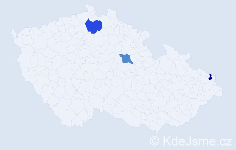 Příjmení: 'Čupaj', počet výskytů 9 v celé ČR