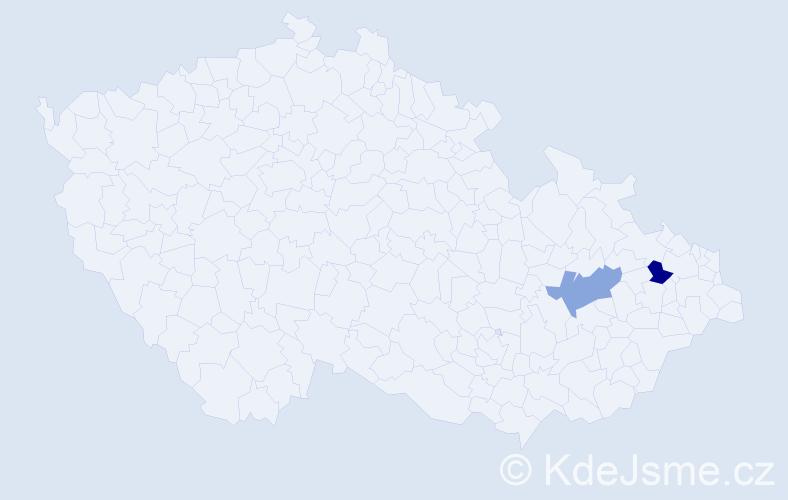 Příjmení: 'Brková', počet výskytů 2 v celé ČR
