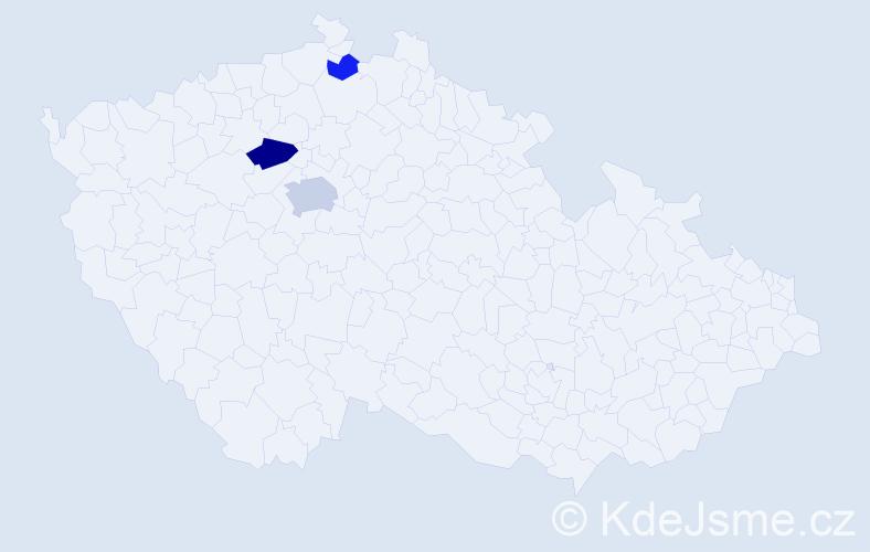 Příjmení: 'Horovičová', počet výskytů 6 v celé ČR