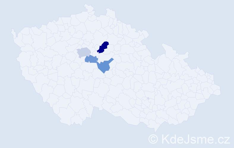 Příjmení: 'Čovban', počet výskytů 7 v celé ČR