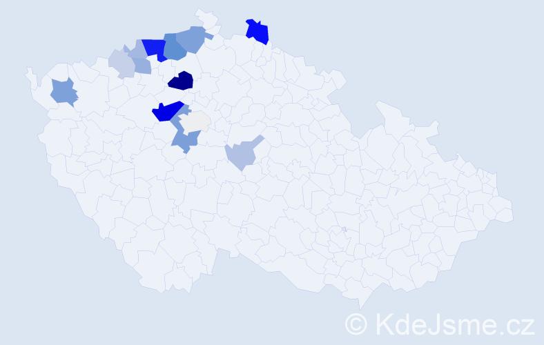 Příjmení: 'Čikalová', počet výskytů 52 v celé ČR