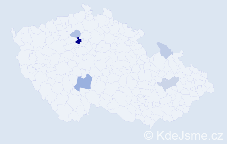 Příjmení: 'Bušilová', počet výskytů 14 v celé ČR