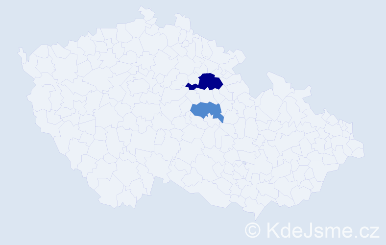 Příjmení: 'Čičai', počet výskytů 4 v celé ČR