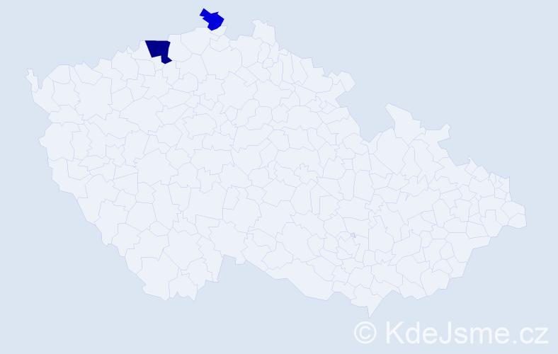 Příjmení: 'Harvatovičová', počet výskytů 4 v celé ČR