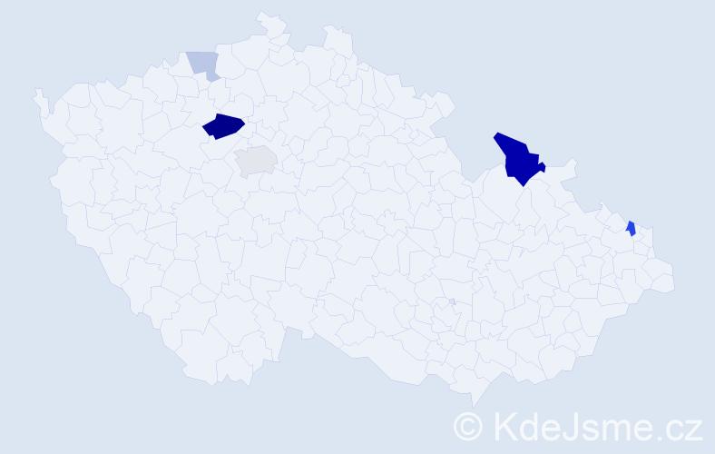 Příjmení: 'Ichimová', počet výskytů 13 v celé ČR