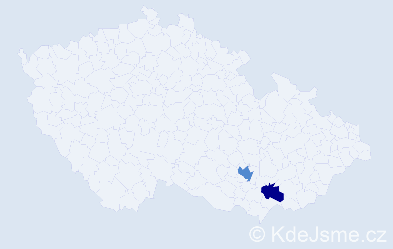 Příjmení: 'Canovová', počet výskytů 3 v celé ČR