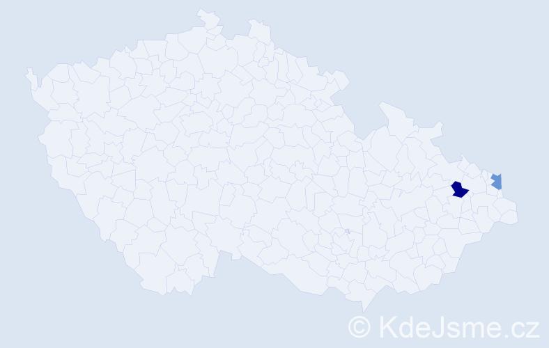 Příjmení: 'Čulak', počet výskytů 2 v celé ČR
