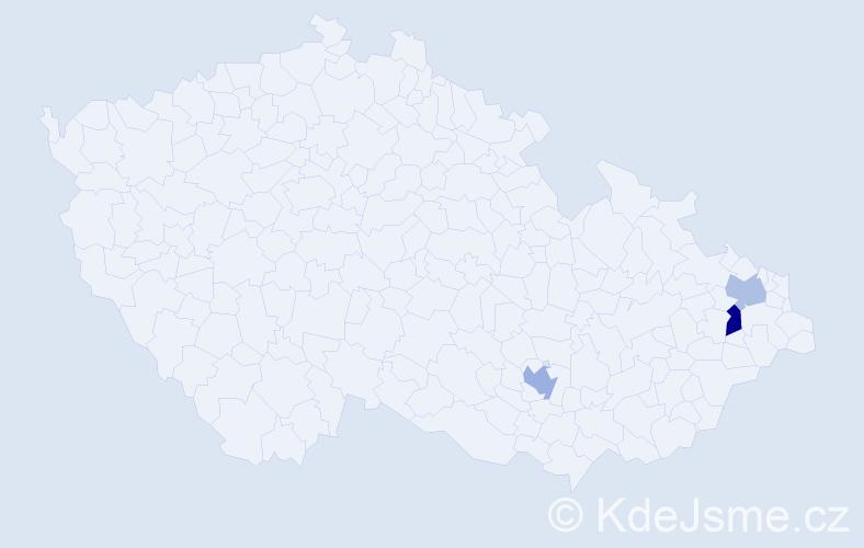 Příjmení: 'Gumulec', počet výskytů 8 v celé ČR
