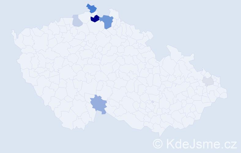 Příjmení: 'Johne', počet výskytů 12 v celé ČR