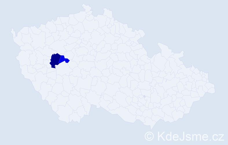 Příjmení: 'Adamisová', počet výskytů 3 v celé ČR