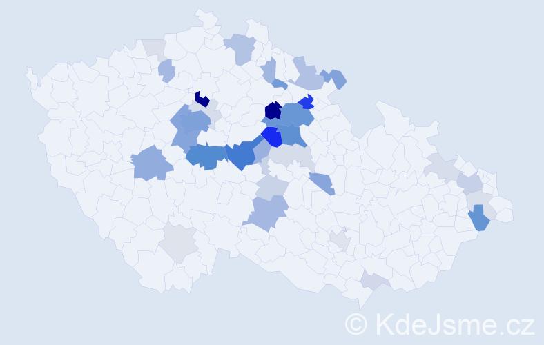 Příjmení: 'Flegr', počet výskytů 127 v celé ČR