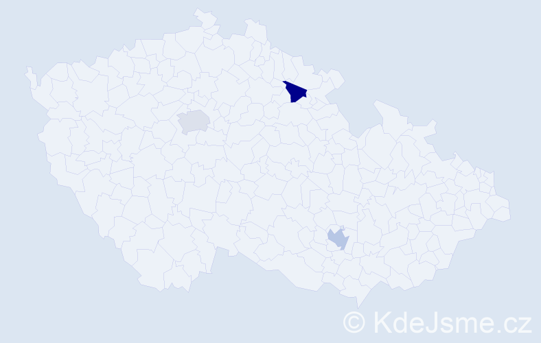 Příjmení: 'Islamajová', počet výskytů 3 v celé ČR