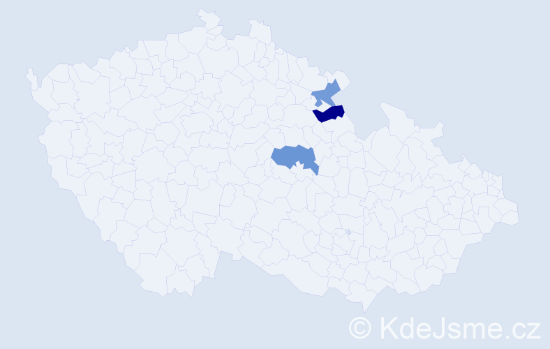 Příjmení: 'Gábrle', počet výskytů 10 v celé ČR