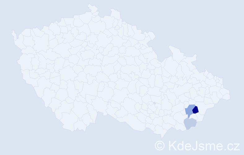 Příjmení: 'Dúbková', počet výskytů 7 v celé ČR
