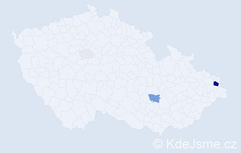 Příjmení: 'Klimprle', počet výskytů 7 v celé ČR