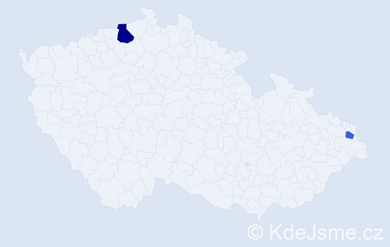 Příjmení: 'Afacan', počet výskytů 3 v celé ČR