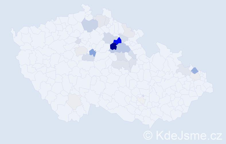 Příjmení: 'Draštík', počet výskytů 74 v celé ČR
