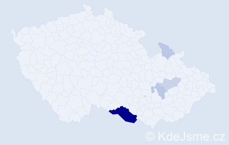 Příjmení: 'Fargaš', počet výskytů 22 v celé ČR