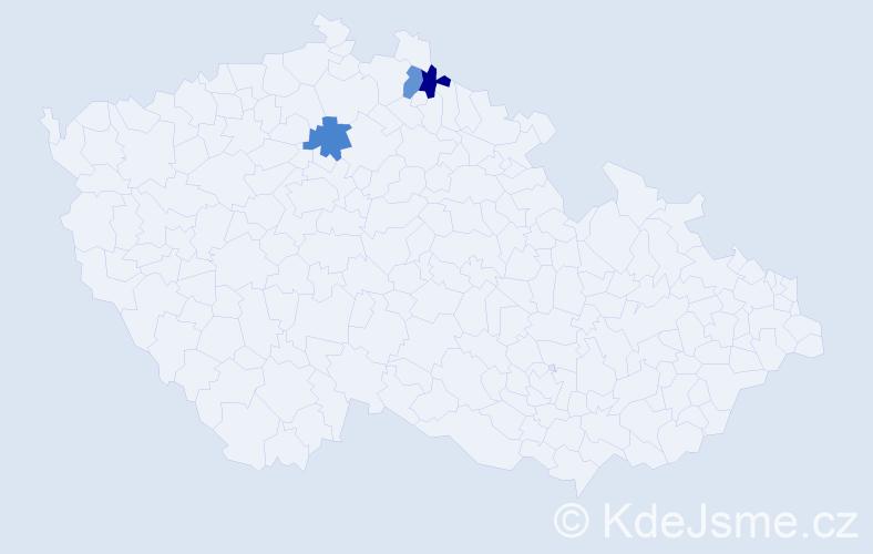Příjmení: 'Galyás', počet výskytů 3 v celé ČR
