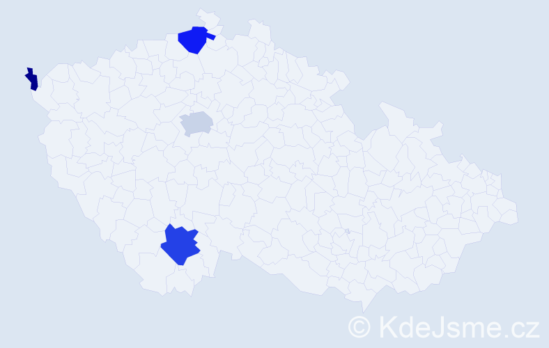 Příjmení: 'Grötschelová', počet výskytů 11 v celé ČR