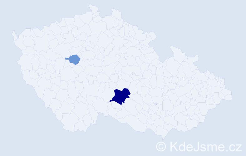 Příjmení: 'Heltzelová', počet výskytů 5 v celé ČR