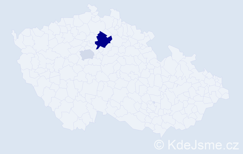 """Příjmení: '""""El Kashif""""', počet výskytů 4 v celé ČR"""