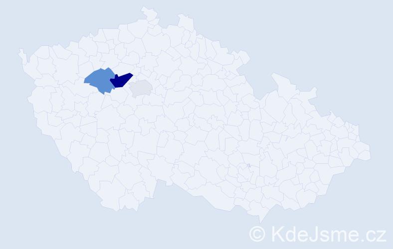 Příjmení: 'Godešová', počet výskytů 6 v celé ČR