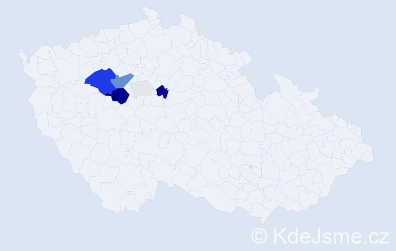 Příjmení: 'Cedlová', počet výskytů 9 v celé ČR