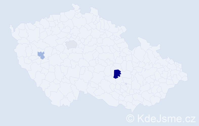 Příjmení: 'Elzer', počet výskytů 3 v celé ČR