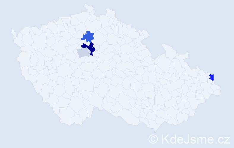 Příjmení: 'Csapek', počet výskytů 8 v celé ČR