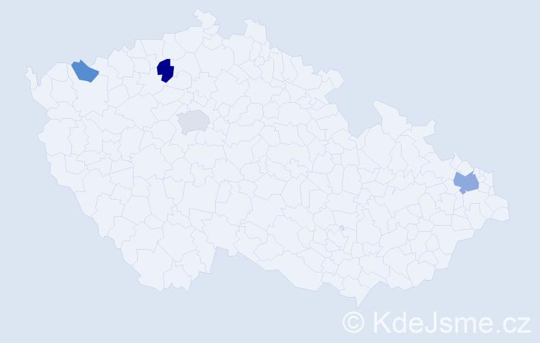 Příjmení: 'Carpenter', počet výskytů 8 v celé ČR