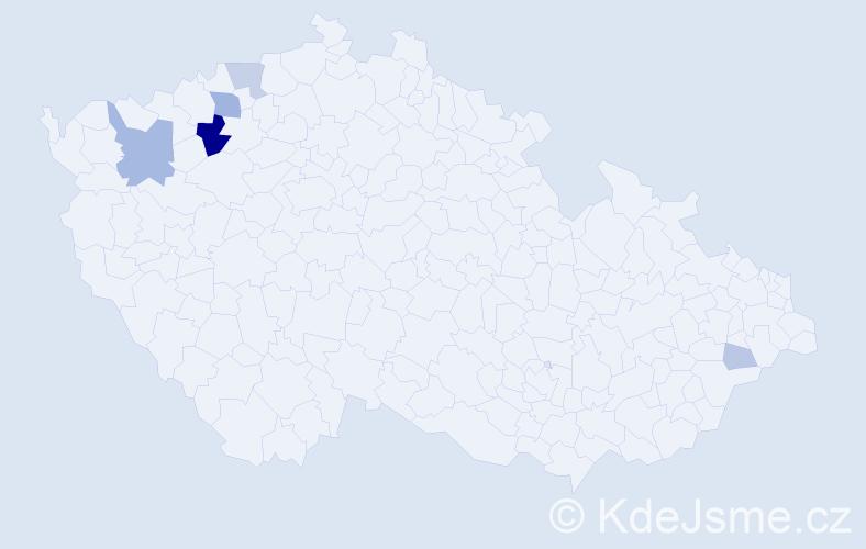 Příjmení: 'Makuková', počet výskytů 16 v celé ČR