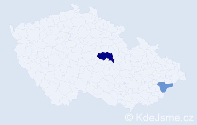 Příjmení: 'Karliš', počet výskytů 4 v celé ČR