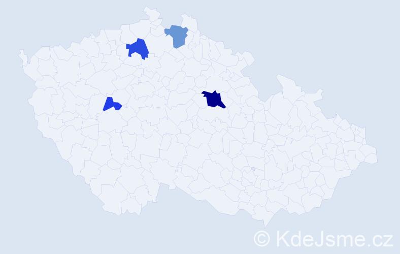 Příjmení: 'Duchna', počet výskytů 10 v celé ČR