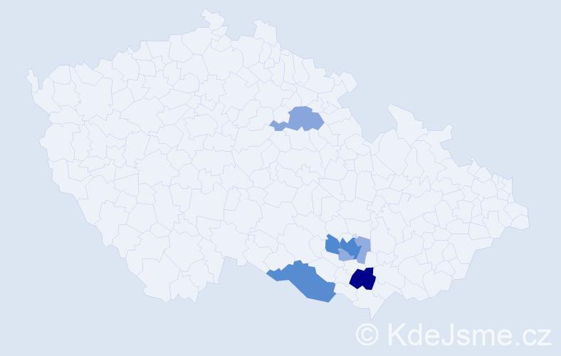 Příjmení: 'Grolig', počet výskytů 20 v celé ČR