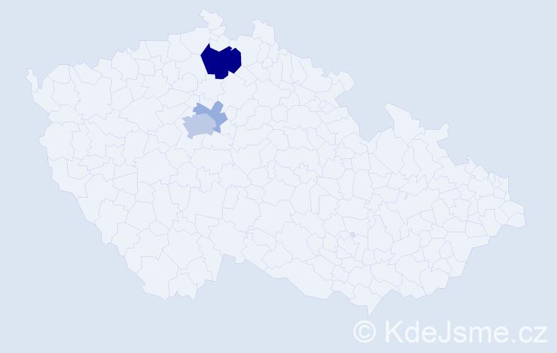 Příjmení: 'Grošup', počet výskytů 11 v celé ČR