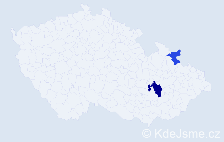 Příjmení: 'Girošková', počet výskytů 4 v celé ČR