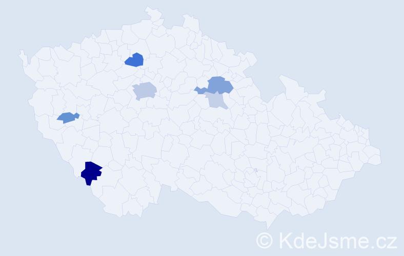 Příjmení: 'Ascherlová', počet výskytů 17 v celé ČR