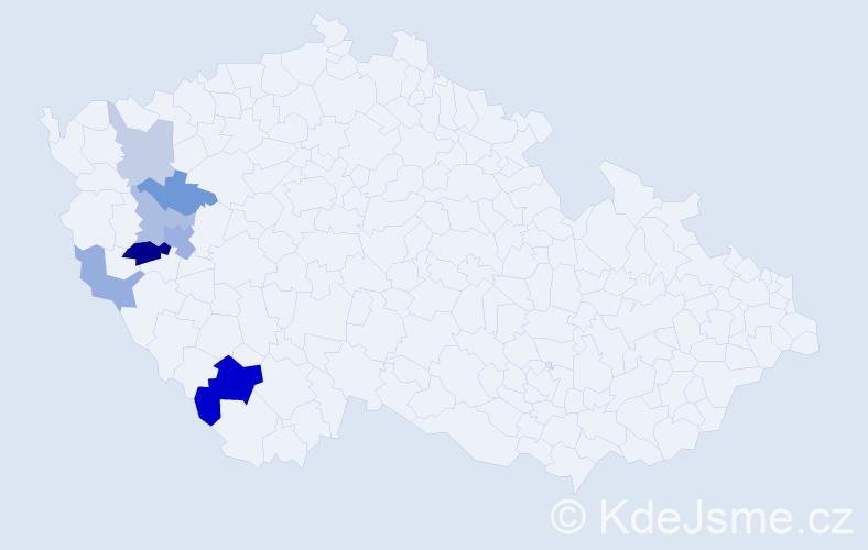 Příjmení: 'Grlačková', počet výskytů 14 v celé ČR