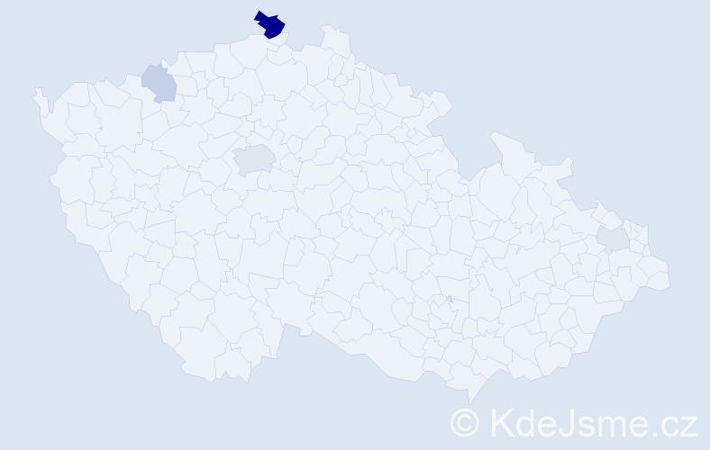 Příjmení: 'Focht', počet výskytů 10 v celé ČR